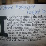 Our State Magazine August 2011 . . . .