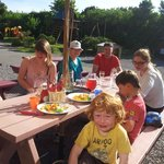 Family meals in the sun