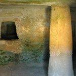 one of the chambers at Anghelu Ruju