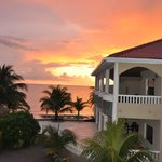 Beautiful sunrise at Los Porticos Villas