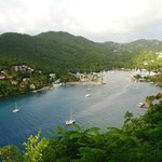 Marigot Bay From the Balcony at The Emerald Hills Villa on Marigot Bay