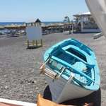 Kamari beach as seen from Splash bar