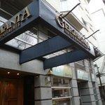 Chile, Concepción, Región del Bio-bío. Hotel Germania, Entrada por calle Anibal Pinto.