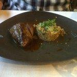 le canard et quinoa aux agrumes