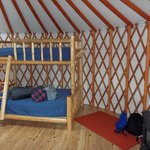 Clean and bright yurt with comfortable beds and heater