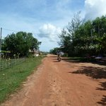 Bungalows were to my right and beach to my left. This is the main road to the otres beach area.