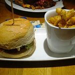Cajun Chicken burger, very tasty with proper chunky chips