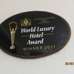 Hotel Award - very deserving