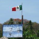Vista de un restaurante Tipico en Playa las Gatas.