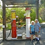 4. Functional ancient gravity flow gas pumps, circa 1930s (and us, not so ancient