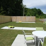 Enjoy a friendly game of corn hole after your ice cream!