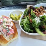 Lobster and Prawn Roll with Mixed Greens Salad!