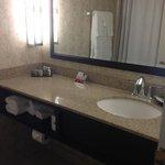 bathroom seems clean
