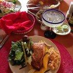 plato del día, Salmón con mango