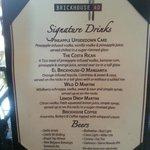 Fun Drink menu