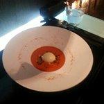 gaspacho et glace au wazabi