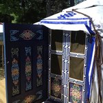 Entrance to Blue Yurt.