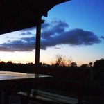 Inverness Farmstay sunset on the verandah