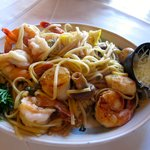 Amazing seafood pasta at Sea Chest