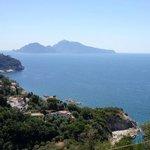 Vista di Capri dalla Maison