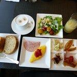 クラブラウンジの朝食