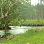 Velit Bay showing it's own fresh water stream flowing out to sea!