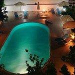 Hotel's pool area