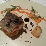 Rainbow Trout, smoked kifler potatoes, Jerusalem artichoke, black garlic & truffle piperade sauc