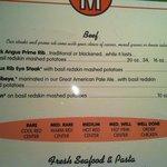 Good menu advice