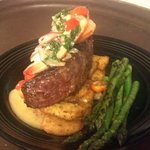 Scampi sirloin...one of our dinner specials