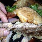Pre-made,frozen, hamburger
