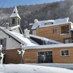 Façade hotel hiver