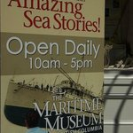 Maritime Museum entrance sign