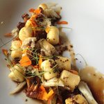 Gnocchi with black garlic