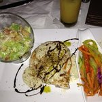 grilled chicken salad and veg