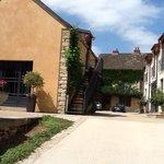 old stone, wonderfully restored and modernized, Clos de Rennard entrance on left