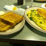French toast & asparagus omelet