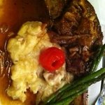 Veal with Truffle Garlic Potatoes and Asparagus