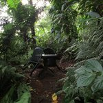 One of many secluded sitting areas