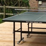 Indoor table tennis table outdoors