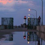 Reflection of the lighthouse