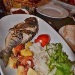 fresh barbecued Sea Bream - very nice!