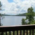 View of the lake from our cabin