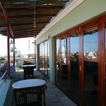 Het balkon met een sweet ocean view