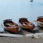 Boats pulled up to shore, Ambleside