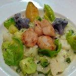 risotto aus algues et saint jacques
