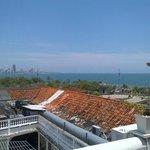 Rooftop, ocean view