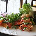 les gambas en salade