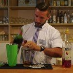 Panos making his cocktails