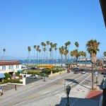 View towards the beach from balcony